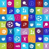 Vector bright sports icons set Royalty Free Stock Photo