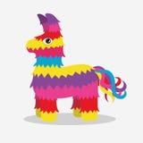 Vector bright striped colorful pinata Royalty Free Stock Image