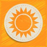 Vector sun icon Royalty Free Stock Photo