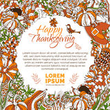 Vector bright Thanksgiving background. Stock Images