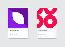 Vector Bright Trendy Vertical Business Cards Royalty Free Stock Photos