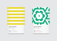 Vector Bright Trendy Vertical Business Cards Royalty Free Stock Images