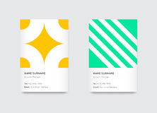 Vector Bright Trendy Vertical Business Cards Stock Image