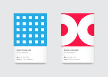Vector Bright Trendy Vertical Business Cards Stock Photos