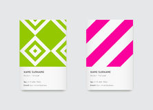 Vector Bright Trendy Vertical Business Cards Royalty Free Stock Image