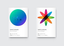 Vector Bright Trendy Vertical Business Cards Stock Images
