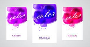 Vector bright watercolor banners. Vector bright colorful watercolor banners Stock Photos