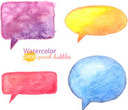 Vector bright watercolor speech bubbles Royalty Free Stock Photo