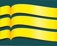 Vector bright yellow banners. Or ribbons set Royalty Free Illustration