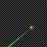 Vector brilhante, verde, raios laser no fundo transparente isolado Elemento do projeto ilustração stock