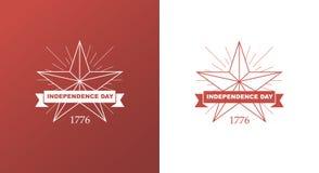 Vector brillante al Día de la Independencia Foto de archivo
