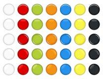 Vector brillante colorido del botón Imagen de archivo libre de regalías