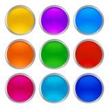 Vector brillante de cristal de los botones nuevo ilustración del vector