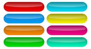 Vector brillante determinado de los iconos de los botones stock de ilustración