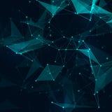 Vector brillante gris polivinílico bajo abstracto de la tecnología Foto de archivo libre de regalías