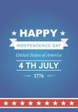 Vector brillante para el Día de la Independencia Fotografía de archivo libre de regalías