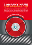 Vector brochure background with infographic circle Royalty Free Stock Image