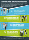 Vector brochure backgrounds with business people. Stock Photos