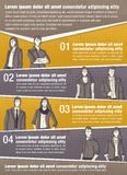 Vector brochure backgrounds with business people Stock Photo