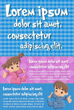 Vector brochure backgrounds with cartoon baby toddlers. Stock Photography