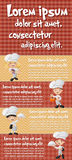Vector brochure backgrounds with cartoon chefs cooking. Royalty Free Stock Photo