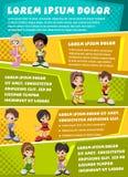 Vector brochure backgrounds with cartoon children Stock Photos