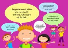 Vector brochure backgrounds with cartoon children. Infographic template design. Stock Photo