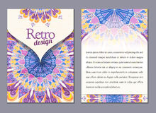 Vector brochure, booklet cover design templates collection A4 Royalty Free Stock Photo