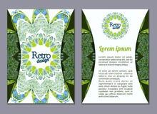 Vector brochure, booklet cover design templates collection A4 Stock Photography