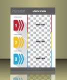 Vector brochure cover template Royalty Free Stock Image
