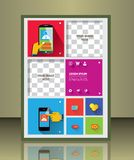 Vector brochure cover template Royalty Free Stock Photo