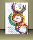 Vector brochure cover template Stock Photography