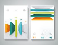 Vector brochure design with 3d elements. Royalty Free Stock Photo