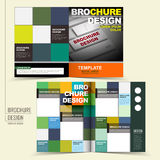 Vector brochure design with keyboard and squares Stock Photography