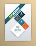 Vector brochure design template Royalty Free Stock Photos