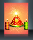 Vector Brochure diwali colorful celebration Royalty Free Stock Photos