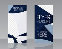 Vector Brochure Flyer design Layout template. Blue Royalty Free Stock Image