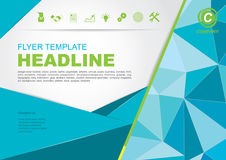 Vector Brochure Flyer design Layout template.infographic Royalty Free Stock Photos
