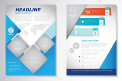 Vector Brochure Flyer design Layout template.infographic Stock Photos