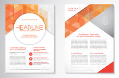 Vector Brochure Flyer design Layout template.infographic Royalty Free Stock Photography