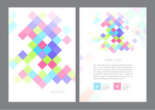 Vector Brochure Flyer design Layout Royalty Free Stock Images