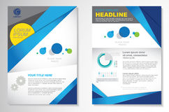 Vector Brochure Flyer design Layout template, size A4, Front page and back page, infographics. Easy to use and edit. Size A4, Front page and back page Stock Images