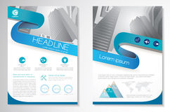 Vector Brochure Flyer design Layout template, size A4, Front page and back page, infographics. Easy to use and edit. Stock Photos