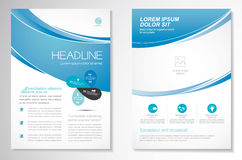 Vector Brochure Flyer design Layout template, size A4, Front page and back page, infographics. Easy to use and edit. Royalty Free Stock Photography