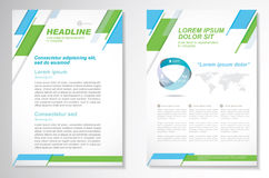 Vector Brochure Flyer design Layout template, size A4, Front page and back page, infographics. Easy to use and edit. Size A4, Front page and back page Stock Photo