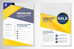 Vector Brochure Flyer design Layout template, size A4, Front page and back page, infographics. Easy to use and edit. Size A4, Front page and back page stock illustration