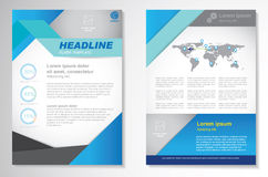 Vector Brochure Flyer design Layout template, size A4, Front page and back page, infographics. Easy to use and edit. Stock Photography
