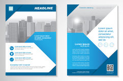 Vector Brochure Flyer design Layout template, size A4, Front page and back page, infographics. Easy to use and edit. Stock Images