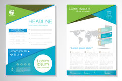 Vector Brochure Flyer design Layout template, size A4, Front page and back page, infographics. Easy to use and edit. Size A4, Front page and back page Royalty Free Stock Photos