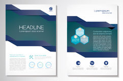Vector Brochure Flyer design Layout template, size A4, Front page and back page, infographics. Easy to use and edit. Stock Image